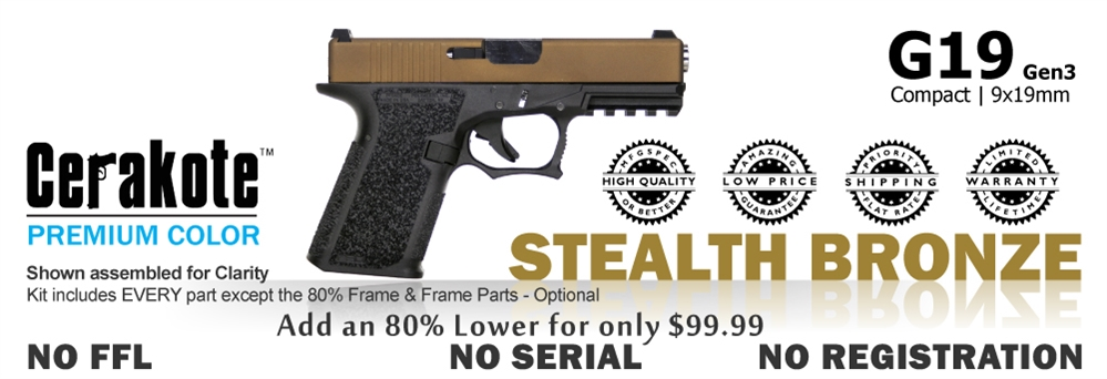 G19 Kit 80% - Compact - Stealth Bronze