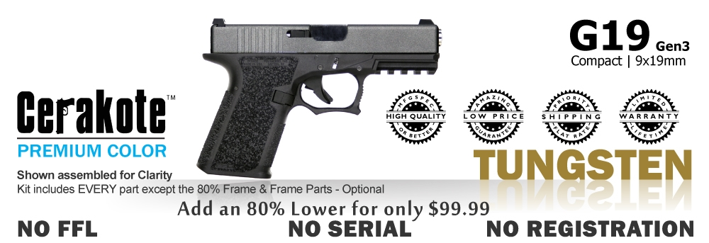 G19 Kit 80% - Compact - Tungsten