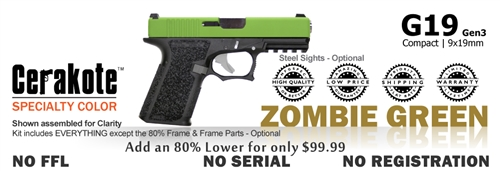G19 Kit 80% - Compact - Zombie Green