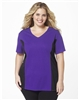 Plus Size AirLight Sport Tee - Purple with Black Contrast