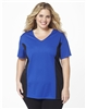 Plus Size AirLight Sport Tee - Royal with Black Contrast