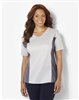 Plus Size AirLight Sport Tee - Light Silver with Dark Silver Contrast