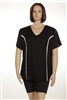 Plus Size AirLight Sport Tee - Black with White Stripe