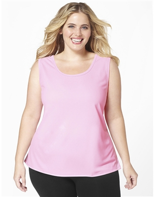 Plus Size AirLight Sport Tank - Baby Pink