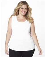 Plus Size AirLight Sport Tank - White