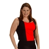 Plus Size Cami Bra - Black/Red
