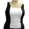 Plus Size Cami Bra - Black/White