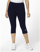 Plus Size Navy Blue Capri w/White ABA Logo