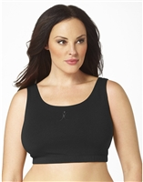 Plus Size Sports Bra - Black with ABA Logo