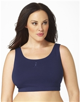 Plus Size Sports Bra - Navy with ABA Logo
