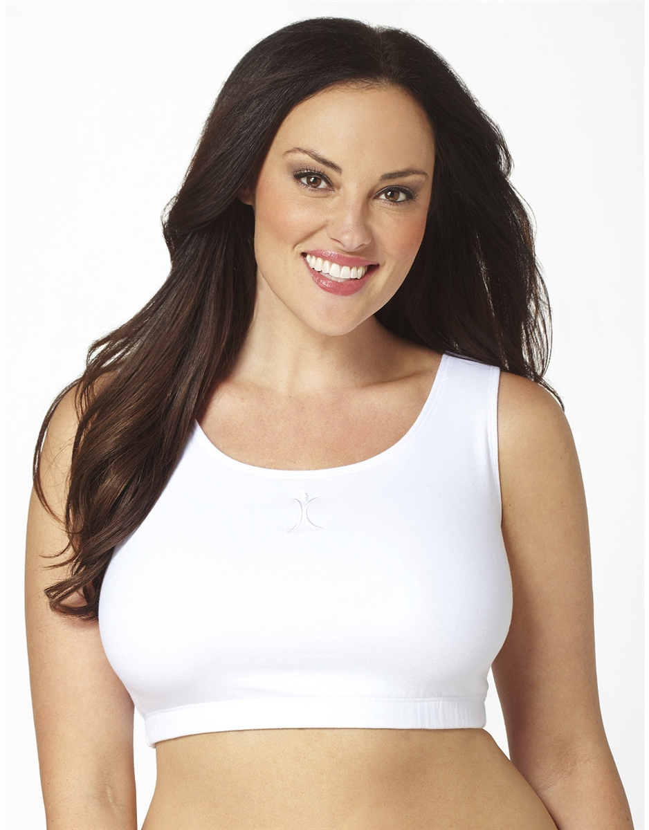 ac411a9ae24 Plus Size Sports Bra - White