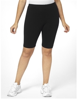 Plus Size Bike Shorts - Black