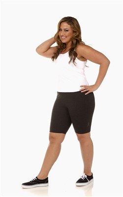 Plus Size Bike Shorts - Charcoal