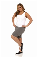 Plus Size Bike Shorts - Heather Grey