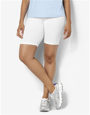 Plus Size Bike Shorts - White