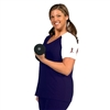 Plus Size Baseball Shirt - Navy Blue with White Sleeves