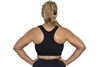 Plus Size Racer Back Sports Bra - Black