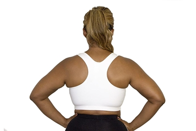 Plus Size Racer Back Sports Bra - White