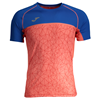 Joma | OLIMPIA FLASH SHORT SLEEVE T-SHIRT ROYAL BLUE-ORANGE | 11946-JOM-100668.040