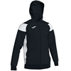 Joma | POLY CREW III HOODED JACKET BLACK-WHITE | 12480-JOM-101271.102