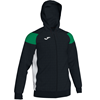 Joma | POLY CREW III HOODED JACKET BLACK-GREEN-WHITE | 12481-JOM-101271.104