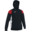 Joma | POLY CREW III HOODED JACKET BLACK-RED-WHITE | 12482-JOM-101271.106
