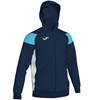 Joma | POLY CREW III HOODED JACKET NAVY-LIGHT BLUE | 12483-JOM-101271.342