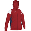 Joma | POLY CREW III HOODED JACKET RED-WHITE-NAVY | 12484-JOM-101271.602