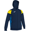 Joma | POLY CREW III HOODED JACKET NAVY-YELLOW-ROYAL | 12485-JOM-101271.339