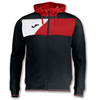Joma | HOODED JACKET POLY CREW II BLACK-RED | 12522-JOM-100615.106