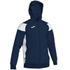 Joma | POLY CREW III HOODED JACKET NAVY-WHITE | 12561-JOM-101271.332