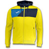 Joma | HOODED JACKET POLY CREW II YELLOW | 12596-JOM-100615.903