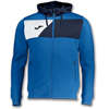 Joma | HOODED JACKET POLY CREW II ROYAL BLUE | 12597-JOM-100615.703