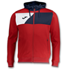 Joma | HOODED JACKET POLY CREW II RED | 12598-JOM-100615.603