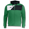 Joma | HOODED JACKET POLY CREW II GREEN | 12600-JOM-100615.451
