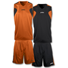 Joma | REVERSIBLE BASKET SET ORANGE -BLACK JERSEY+SHORT | 12828-JOM-1184.801