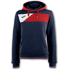 Joma | HOODIE CREW II NAVY BLUE-RED WOMEN | 13334-JOM-900443.306