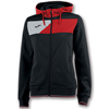 Joma | HOODED JACKET CREW II BLACK-RED WOMEN | 13373-JOM-900386.106