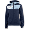 Joma | HOODED JACKET CREW II NAVY BLUE-SKY BLUE WOMEN | 13401-JOM-900386.312