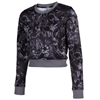 Joma | SELENE WOMEN'S PRINTED SWEATSHIRT BLACK-ANTHRACITE | 13631-JOM-900896.280