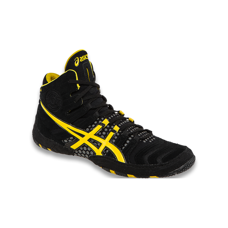 Durable Asics Mens Black Yellow scarpa Dan Gable Ultimate 4