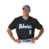 Alleson Athletic | Adult Two Button Mesh Baseball Jersey With Piping | 546-ALL-52MTHJ