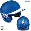 CHAMPRO Sports | Two-Tone Rubberized Matte Finish Performance Batting Helmet | 5858-CHP-H4J