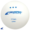 CHAMPRO Sports | Three-Star Seamless Tennis Ball White | 6167-CHP-TT1843