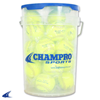 "CHAMPRO Sports | 12"" Slow Pitch Leather Cover; Pu Core Bucket W/2 Dz. 