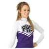 Alleson Athletic | Girls Cheerleading V Shell Top With Braid | 707-ALL-C101VY