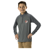 Alleson Athletic | Youth Heather Colorblock Gameday Quarter Zip | 8439-ALL-GFQZ5Y