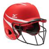 Mizuno | MVP Series L/XL Batting Helmet with Fastpitch Softball Mask | 9476-MIZ-380353