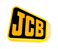 JCB PLATE BADGE EMBLEM YELLOW ON BLACK 817/17580