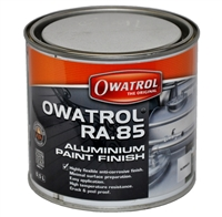 OWATROL RA.85 ALUMINIUM HIGH TEMPERATURE CRACK AND PEEL PROOF PAINT FINISH